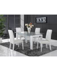 Dining Table White Legs Wooden Top Tis The Season For Savings On Global White Solid Wood Glass Top