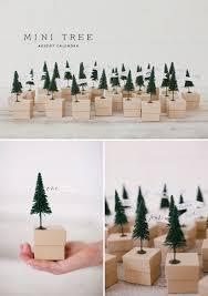 mini tree advent calendar free template