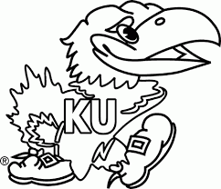 kansas jayhawks stencil rock chalk pinterest kansas and for