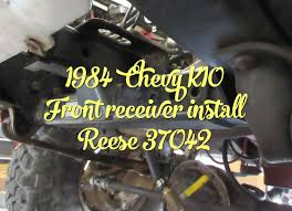 1984 chevy k10 front receiver install reese 37042 youtube