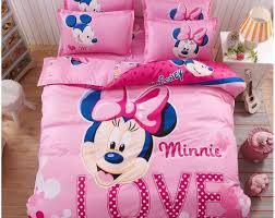 Toddler Minnie Mouse Bed Set Bedding Set Bright Minnie Mouse And Daisy Toddler Bedding