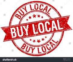 buy ribbon buy local grunge retro isolated stock vector 274403993