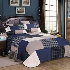 geometric pattern bedding mixinni cotton geometric pattern bedding 3 piece bedspread quilt set