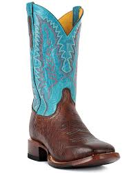 buy boots near me cinch s 12 smooth ostrich square toe boots brown turquoise