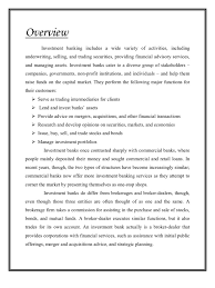 Commercial Banker Resume Main Project Of Investment Banking Investment Banking