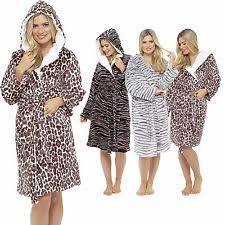 animal print dressing gown ebay