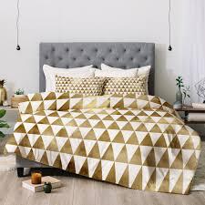 triangle bedding triangle pattern gold comforter georgiana paraschiv