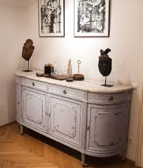 19th century french demi lune chest buffet louis xvi gustavian