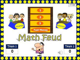 math feud powerpoint game for middle and junior high tpt