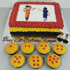 Dragon Ball Z Cake Decorations by Dragon Ball Z Cake And Dragon Ball Cupcakes With Edible Image