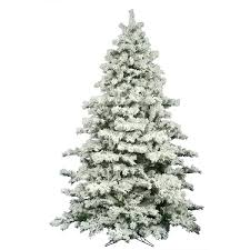 flocked christmas tree the aisle flocked alaskan 9 white pine artificial unlit