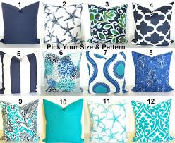 Blue Outdoor Cushions Blue Outdoor Pillows Blue Throw Pillow Covers Beach Throw