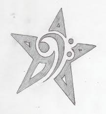 bass clef star tattoo by dumaii on deviantart