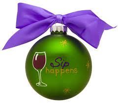 gb002 it s ok to wine glass ornament polarx ornaments