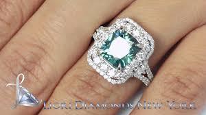 Diamond Cushion Cut Ring Fd 661 5 06 Carat Fancy Blue Cushion Cut Diamond Engagement Ring