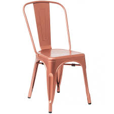 Copper Bistro Chair Style Metal Chair In Copper Frame Finish