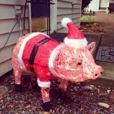 pig lawn ornament xmas2017 net