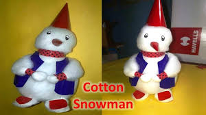 how to make cotton snowman how to make doll christmas festival