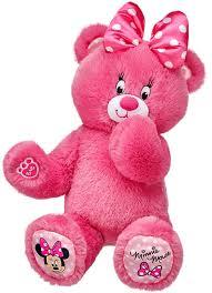 build a bear minnie mouse themed teddy 16 in stuffed plush toy