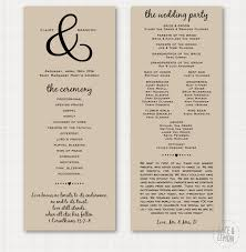 kraft paper wedding programs modern traditional blush wedding suite lace lemon