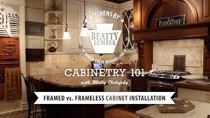 8 cabinetry 101 framed vs frameless cabinet installation youtube