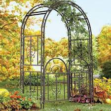 wedding arbor ebay metal arch gate sturdy wrought iron garden wedding trellis arbor