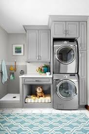 laundry room for vertical spaces dog washing station grey