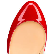 christian louboutin wawy dolly patent leather red christian