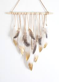 diy feather wall hanging homey oh my