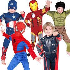 Superhero Halloween Costumes Kids Boys Licensed Marvel Avengers Superhero Halloween Kids Fancy Dress