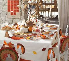 thanksgiving table decorations for the kids pottery barn