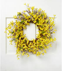 forsythia wreath fresh picked 22 forsythia twig wreath yellow joann