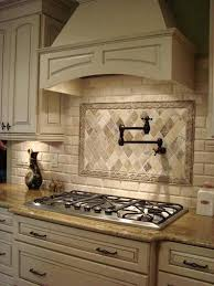Custom Kitchen Faucet Stove Faucet Backsplash Contrast Custom Cabinets Water Faucet