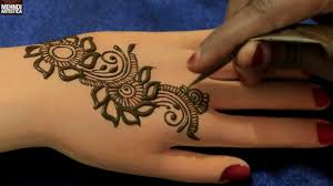 marigold floral easy simple gulf henna mehndi designs trendy