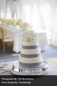 blue and white striped ribbon a navy blue and white wedding