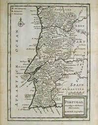 Iberian Peninsula Map Prints Old U0026 Rare Iberian Peninsula Spain And Portugal Page