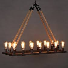 Country Style Chandelier Ladiqi Rope Chandelier Metal Vintage Rustic Country Style Https
