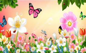 flowers garden pretty nature pink summer spring flowers butterfly