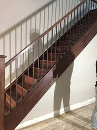 Box Stairs Design Box Stairs Renovation New Railing New Steps New Posts Reveneering