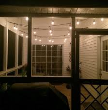 Outdoor Deck String Lighting by String Lights For The Screened Porch U2022 Charleston Crafted