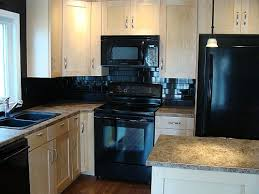 black backsplash in kitchen beautiful black subway tile backsplash amazing materials for black