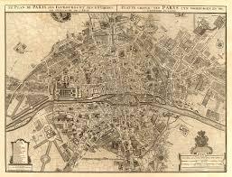 Vintage Chicago Map by Archival Map Print Vintage Map Of Paris Antique Paris Map