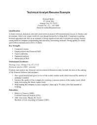 financial analyst resume exles technical skills exles for resume therpgmovie