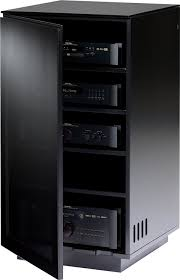 cabinet for home theater equipment amazon com bdi mirage 8222 enclosed a v component tower satin