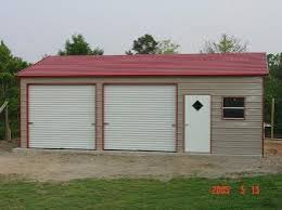 Double Car Garage Size Bennett Customizable Two Car Garages