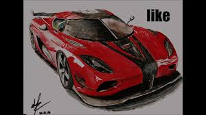 koenigsegg agera r logo how to draw koenigsegg agera r how to draw a car youtube
