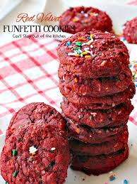 red velvet funfetti cookies can u0027t stay out of the kitchen