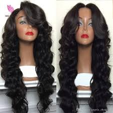 good wet and wavy human hair 7a wet and wavy full lace human hair wigs for black women