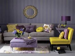 Coffee Table Ottoman With Storage by Stylish Living Room Using Stripes Wallpaper And Yellow Purple