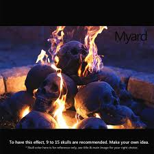 dragon fire pit amazon com myard fireproof human fire pit skull gas log for ng